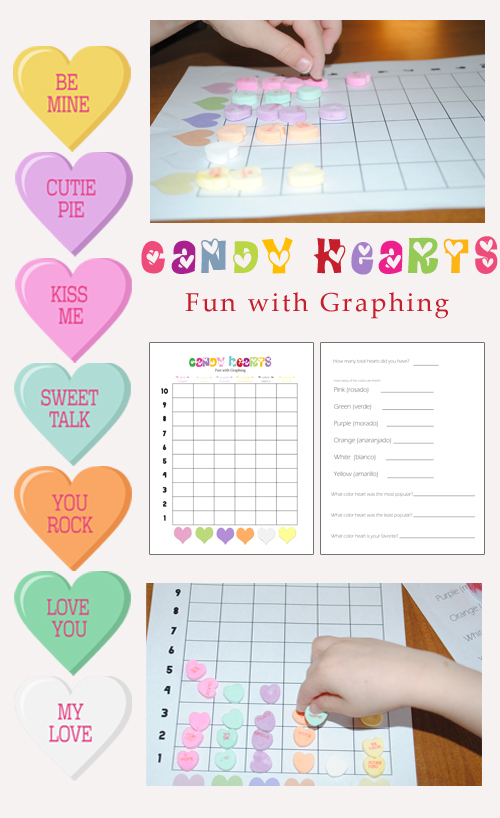 Valentines Day Conversation Heart Math: Graphing