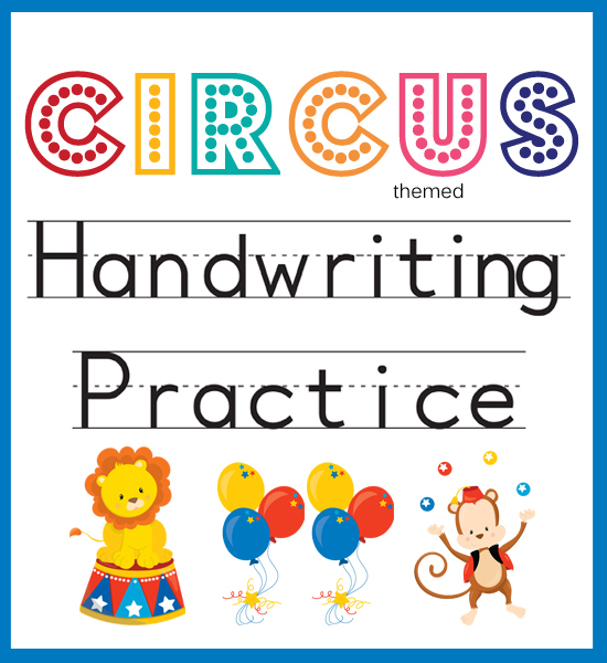 Circus Themed  Handwriting Practice