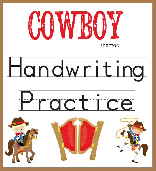 Cowboy Handwriting Practice