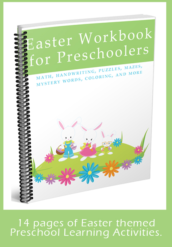 Easter Themed Printable Packet for your preschooler. 14 pages of fun, engaging, and educational worksheets!