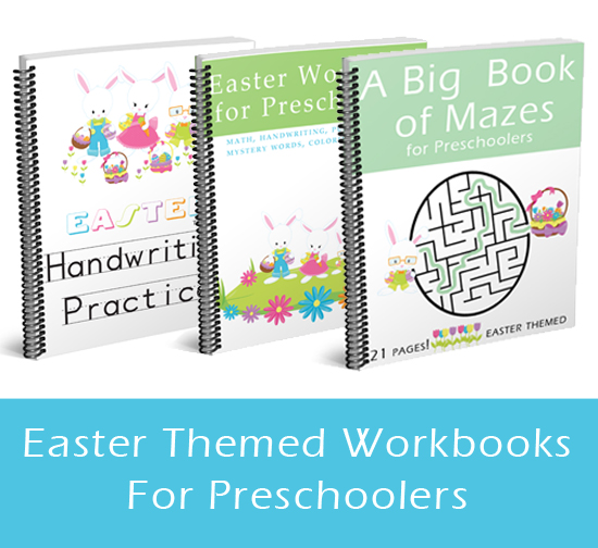 Easter Workbooks for Preschoolers