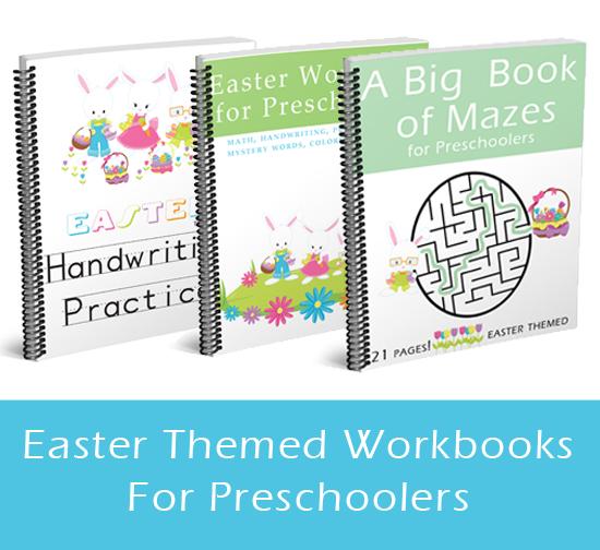 Easter Workbooks for Preschoolers