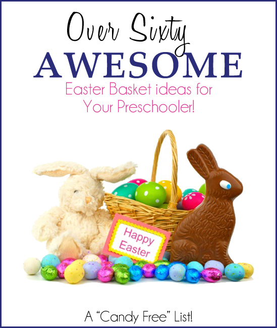 Over 60 awesome easter basket ideas for perschoolers one over 60 awesome easter basket ideas for preschoolers negle Images