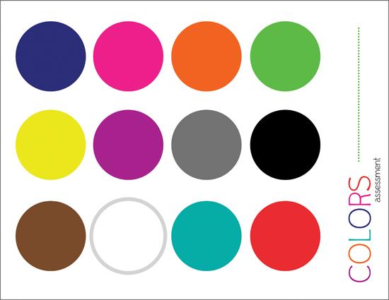 PRE K Assessment Color - Colors For Kindergarten