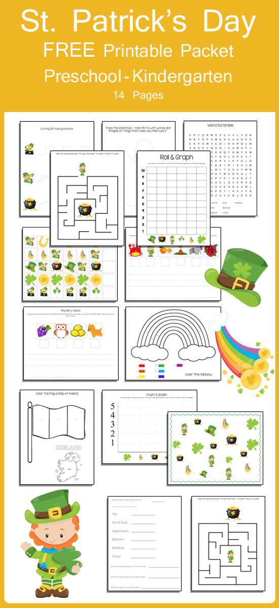 photo about Kindergarten Packet Printable identified as Printable Packet - St. Patricks Working day » A person Interesting Dwelling