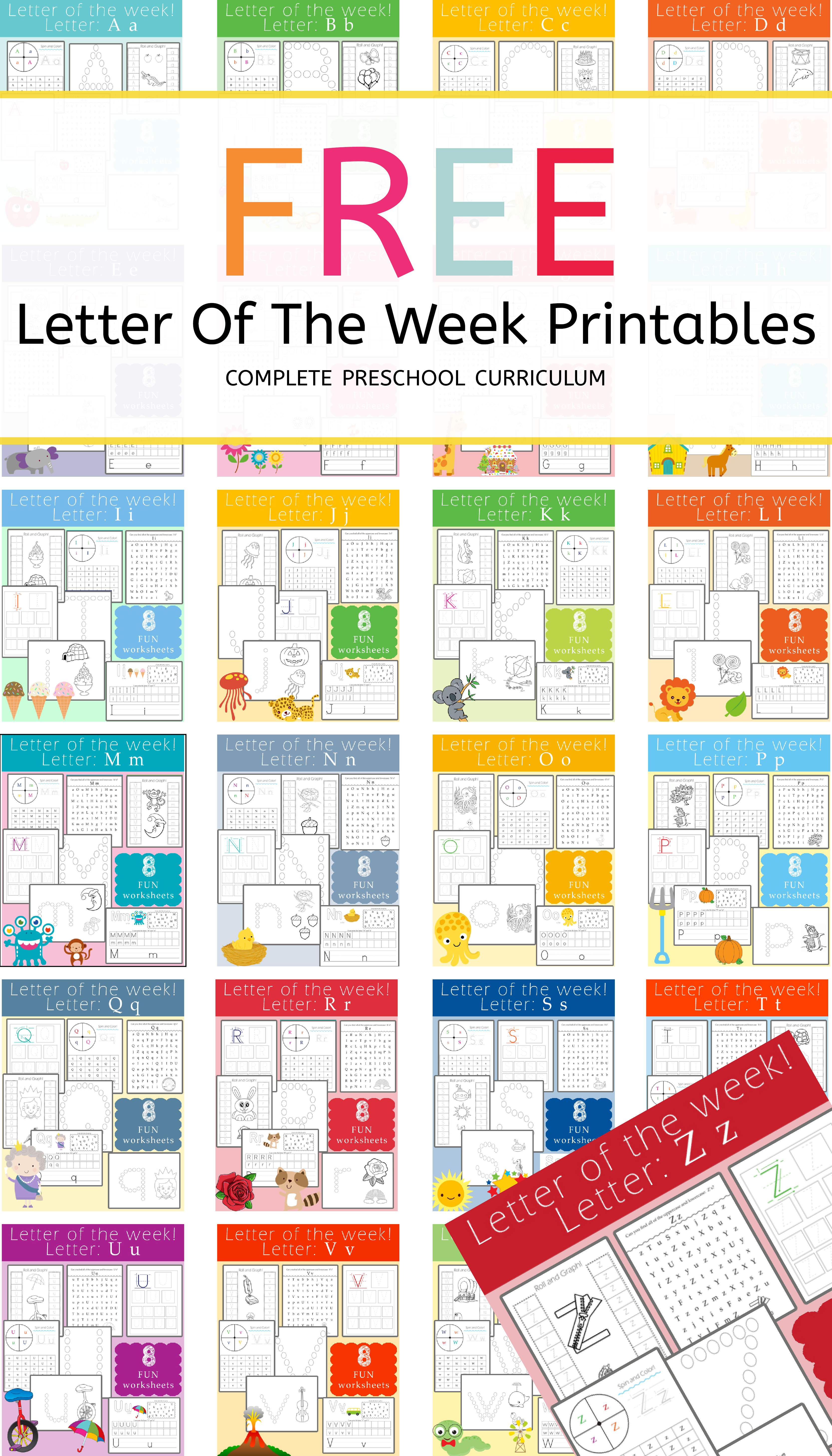 FREE Letter Of The Week Printables: Letter Z - Preschool ...