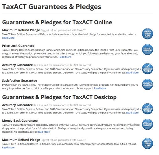 Tax Act Gaurantees