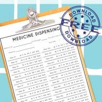 Medicine Dispensing form. Never miss another dose or try to remember if you've already given the dose for the day!