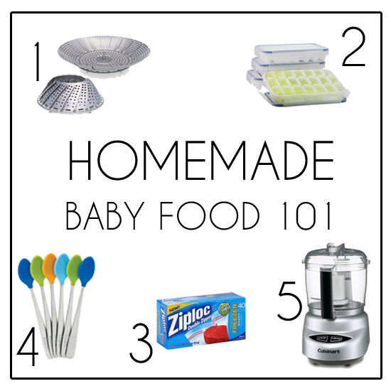 Homemade Baby Food 101. Everything you need to know to get started making your own baby food at home!