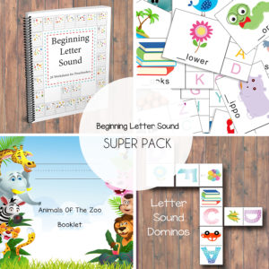Beginning Letter Sound Template for Sale