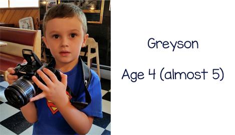 Greyson age 4