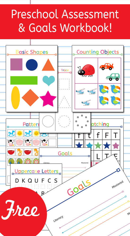 Preschool Assessment and Goals Workbook! What an amazing and fun ...