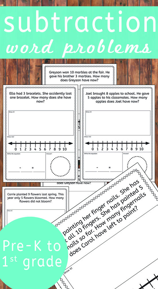 Subtraction word problems! This awesome version of solving word problems is absolutely fantastic for young learners!!