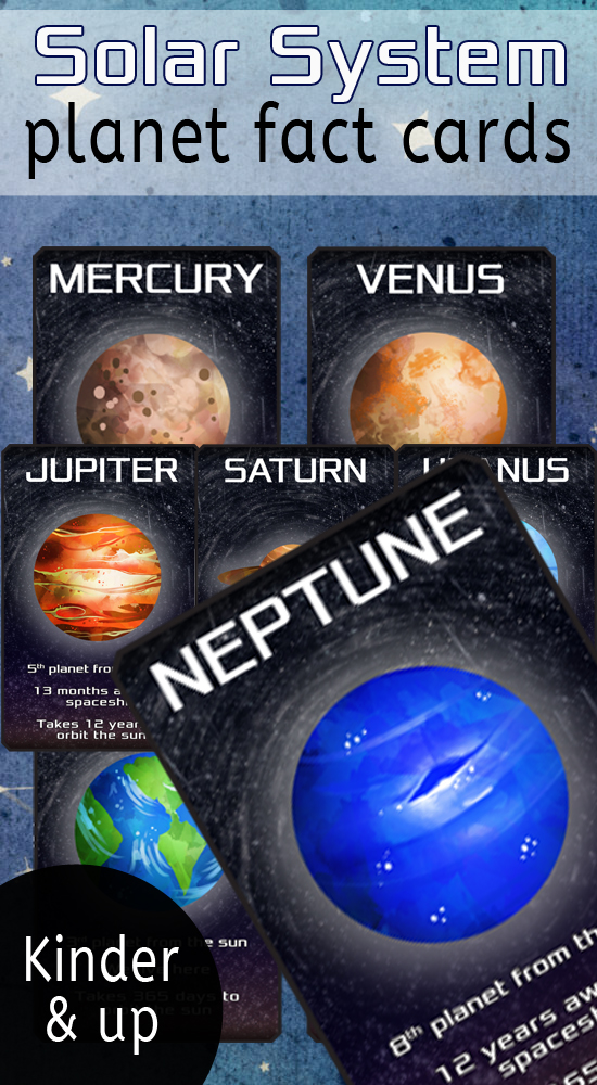 Planet Flashcards / Solar System Fact Cards