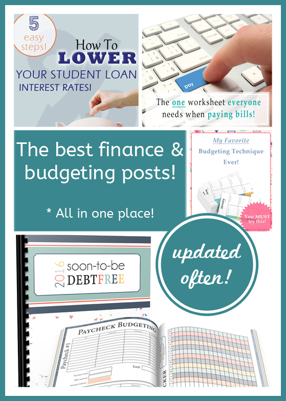 Looking for budgeting resources? I love this list of the best money related posts. So much inspiration within these posts!