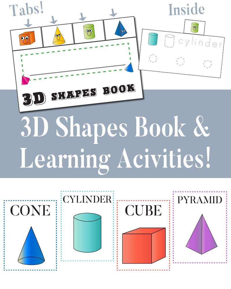 3d Shapes Book and fun learning activities!