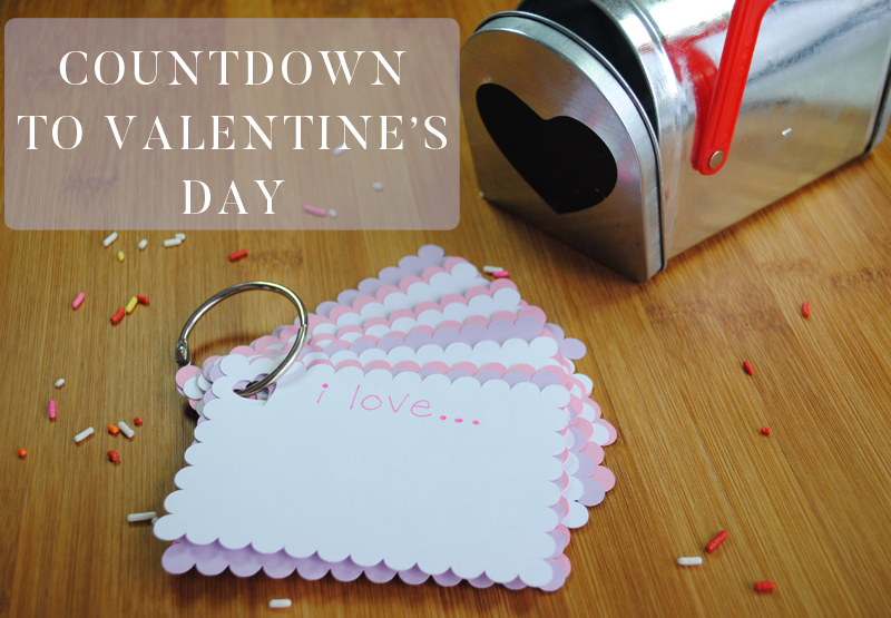 Countdown to Valentine's Day Advent Mailbox and cards
