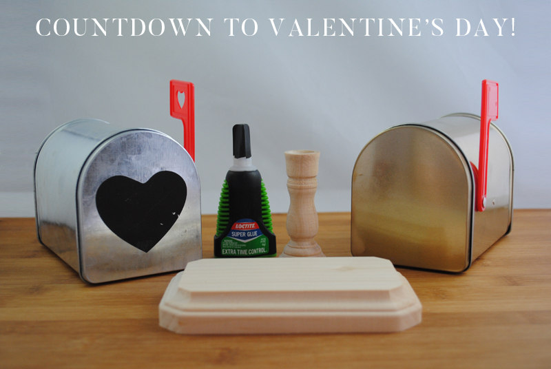 Countdown to Valentine's Day Advent Mailbox supplies needed