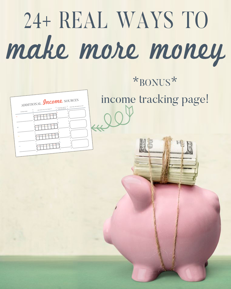 It is not easy but the key to getting out of debt quickly is to make more money. Here are over 24 REAL ways to make and track your additional money