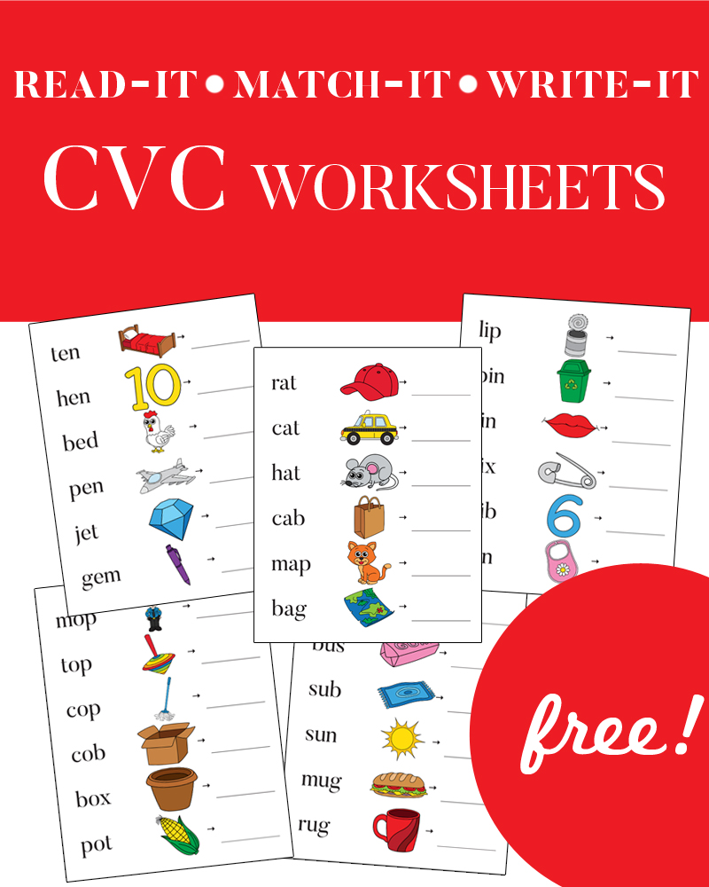 CVC Worksheets for Kindergarteners