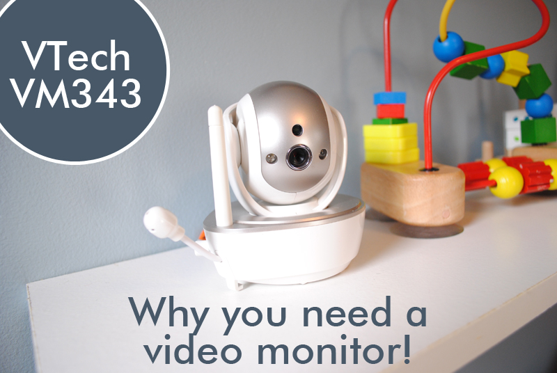 Video Monitor sitting on a shelf.