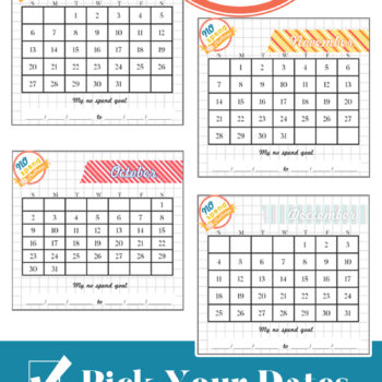 No Spend Challenge – 2016 Cards