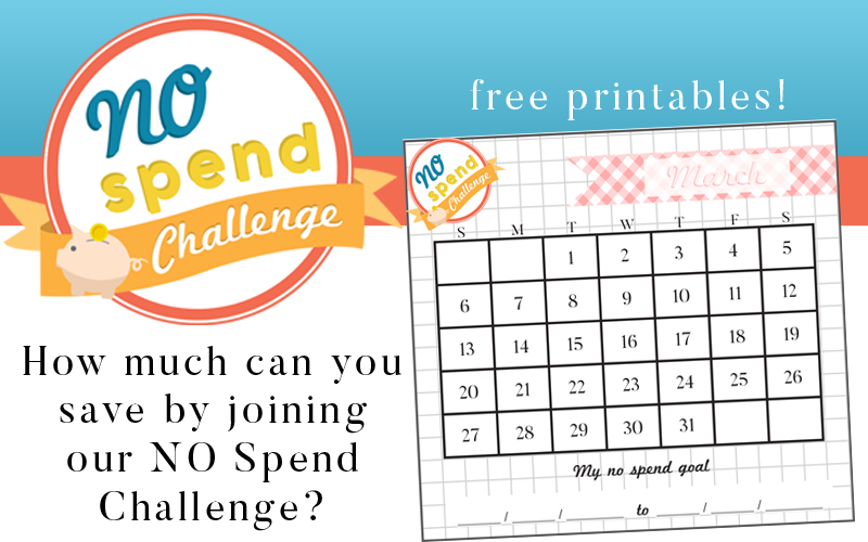 No Spend Challenge Free Printables
