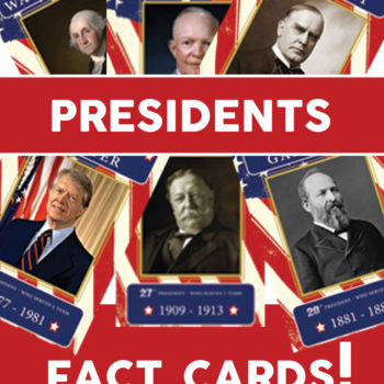 Presidents – 4×6 educational cards