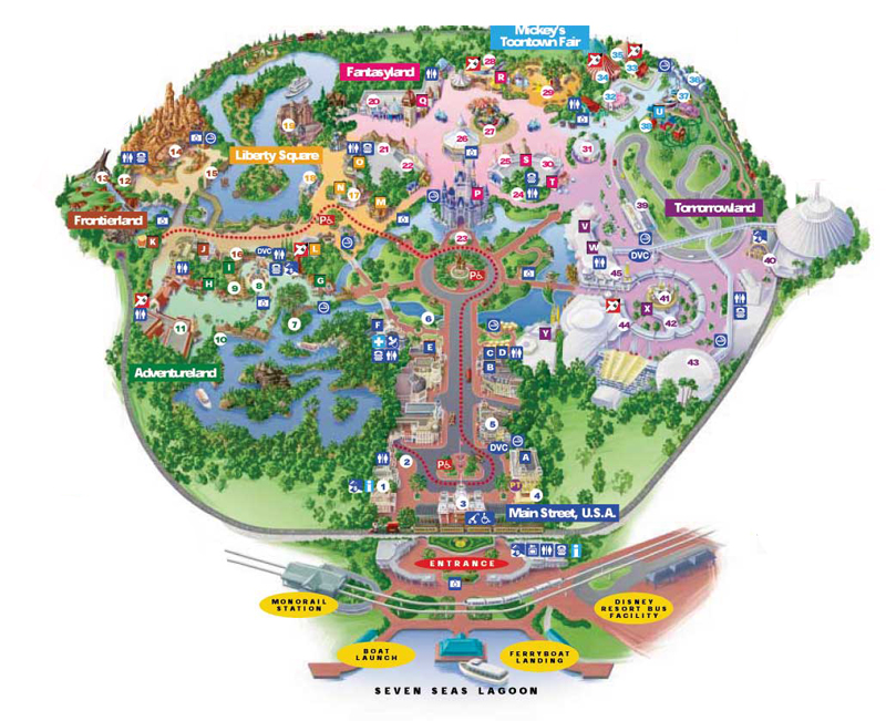 Disney World Map