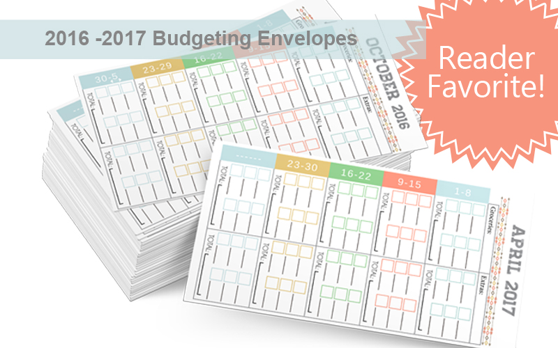 2016 – 2017 Budgeting Envelopes