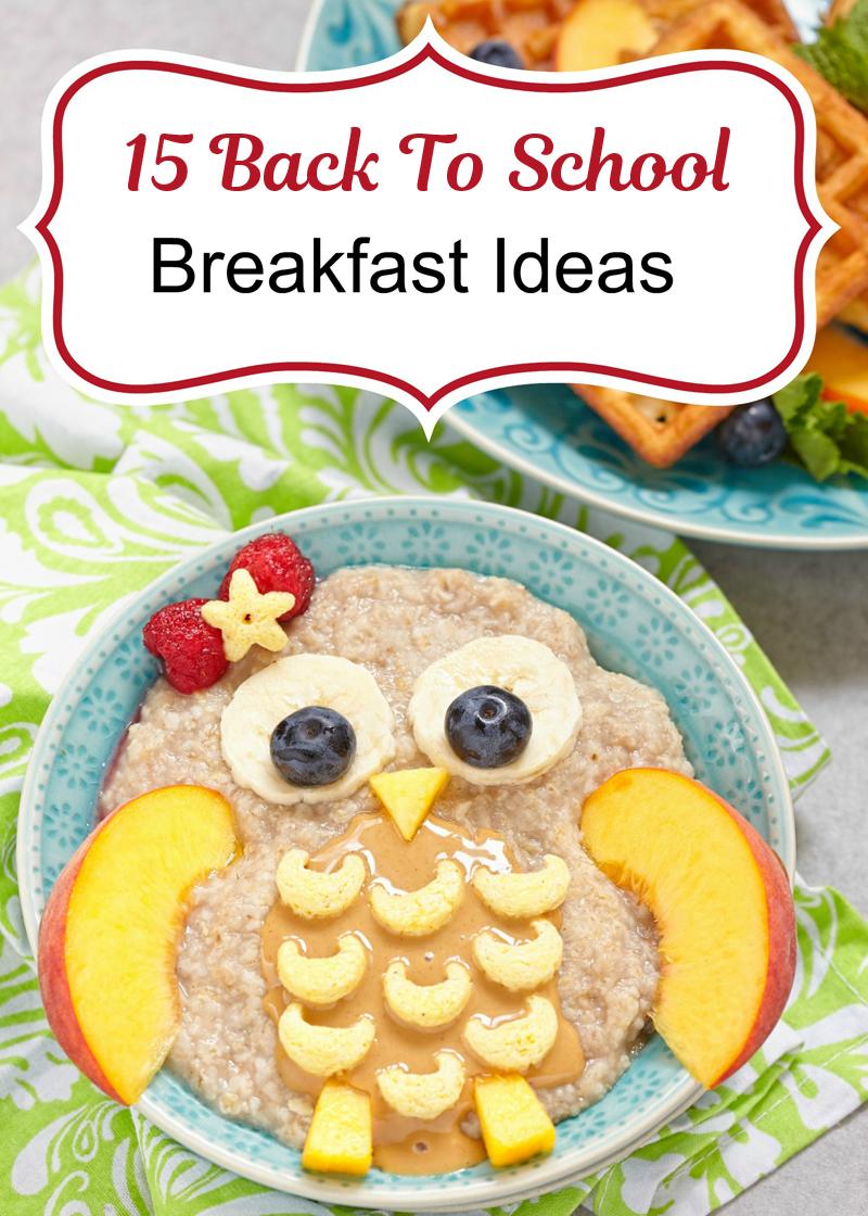 Back to school breakfast