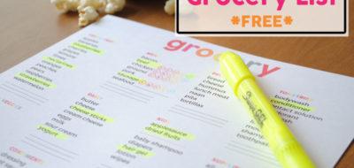 Grocery List – Free Printable!