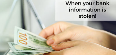 what to do when your bank information gets stolen!