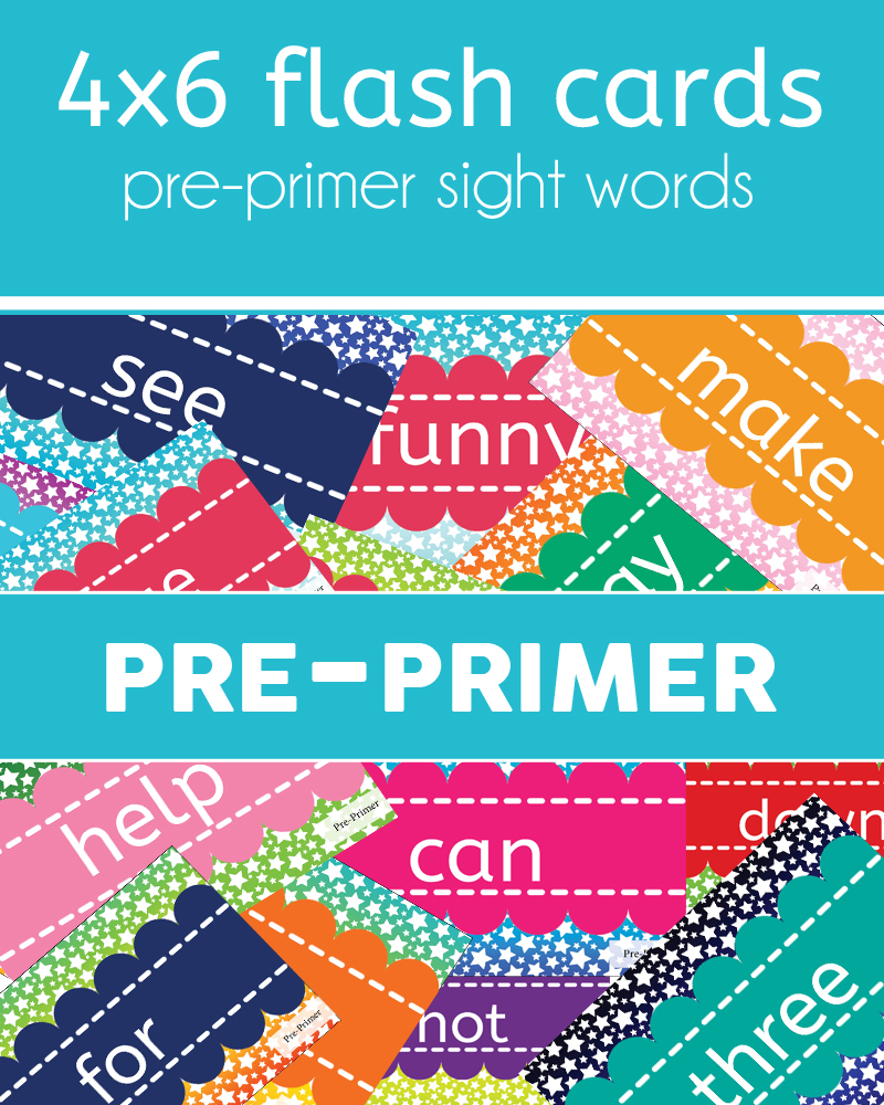 Flashcards - Pre-Primer Sight Words