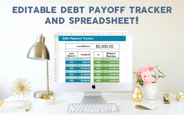 debt tracker printable and spreadsheet   u00bb one beautiful home