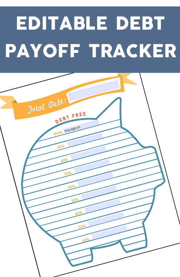 Invaluable image pertaining to debt tracker printable