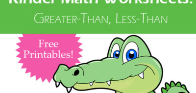 Kinder Math: Greater Than, Less Than