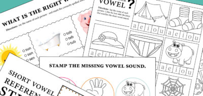 Short Vowel Sounds: Activity Sheets