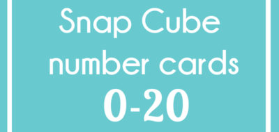 Snap Cube Number Cards 0-20