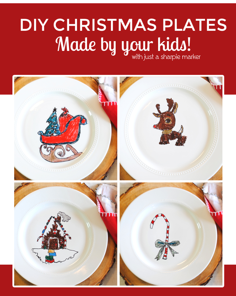 DIY Christmas Dishes  sc 1 st  One Beautiful Home : kids christmas dinnerware - pezcame.com