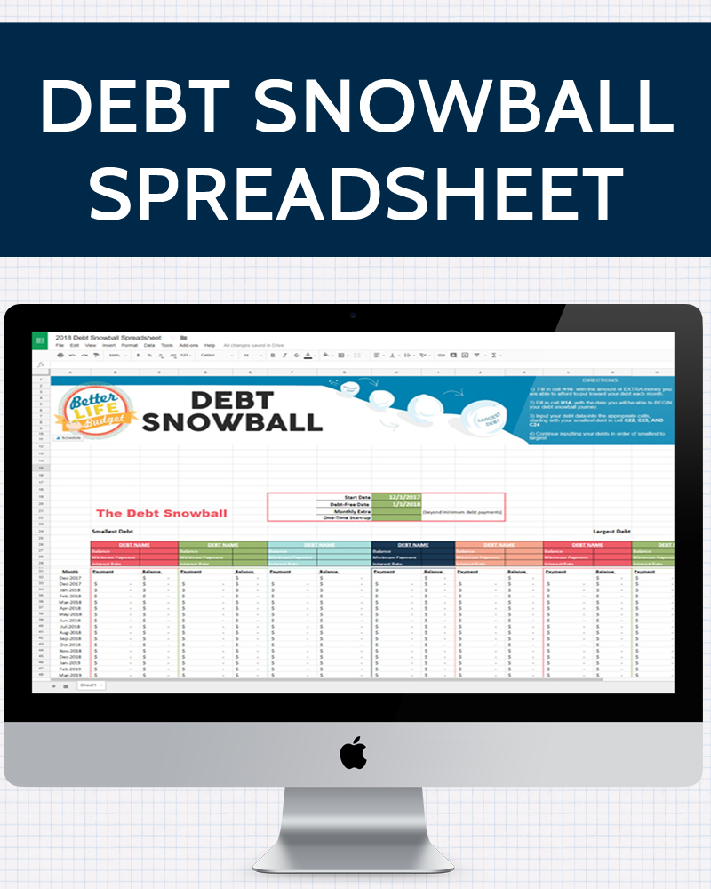 Worksheets Debt Snowball Worksheet debt snowball spreadsheet one beautiful home spreadsheet