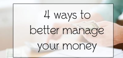 Managing Your Money – You should be doing more of these!