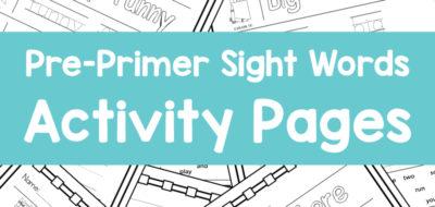 Pre-Primer Sight Words – No Prep Worksheets